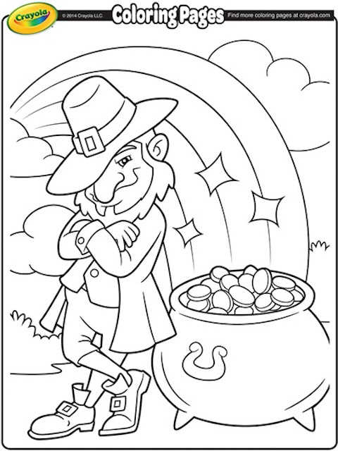 St Patricks Day Colouring Pages Crayola