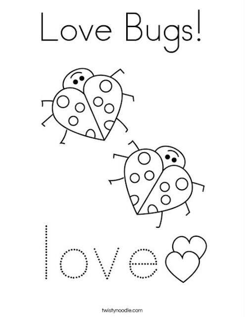 Valentine's colouring page
