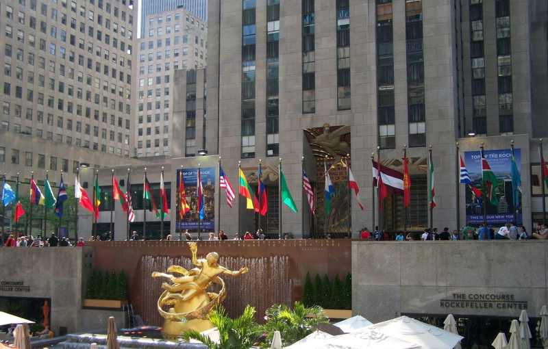 rockefeller center and plaza