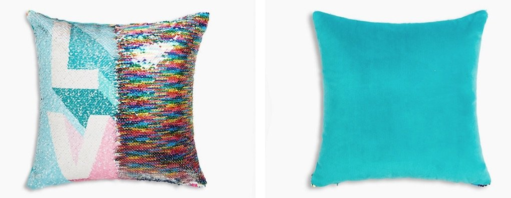 sequin love cushion best mother's day gifts from M&S