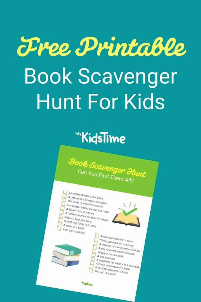 Book Scavenger Hunt For Kids