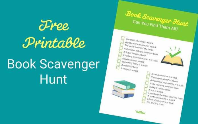 free printable book scavenger hunt lead