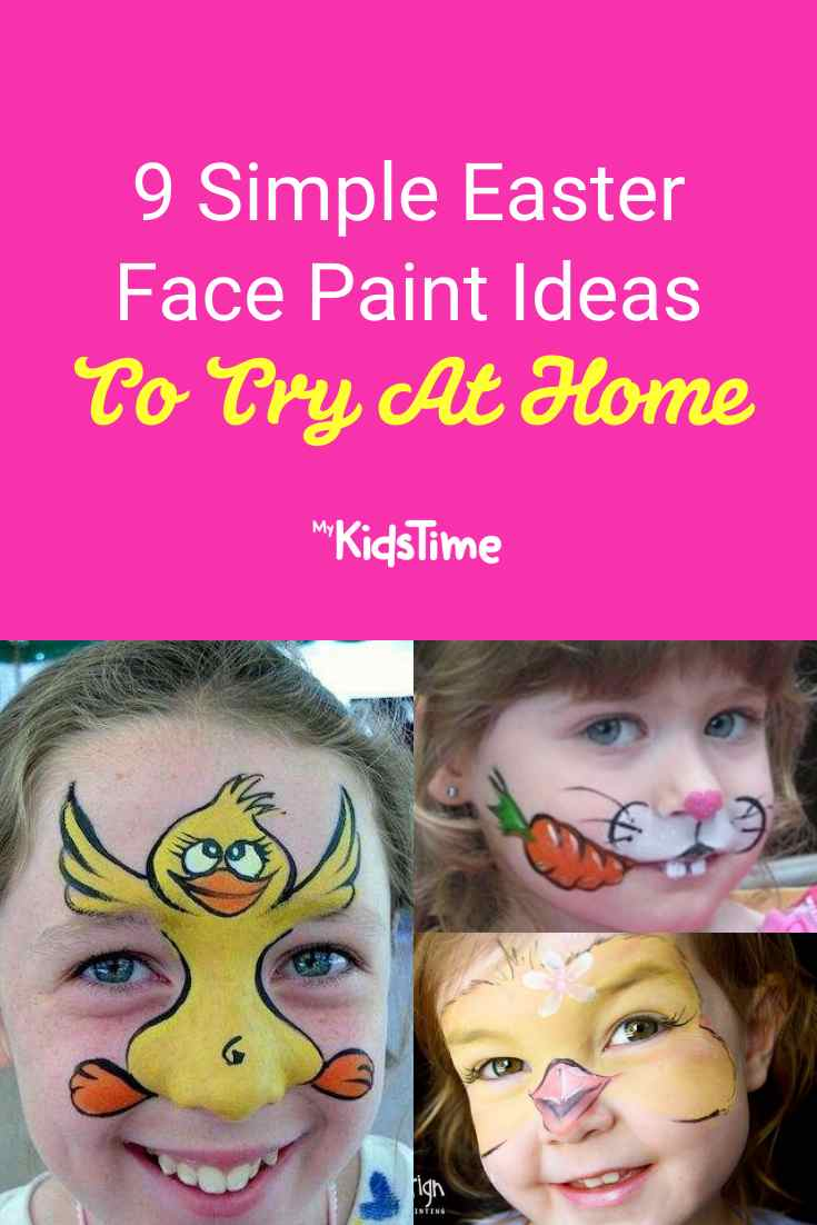 9 Simple Easter Face Paint Ideas To Try At Home - Mykidstime