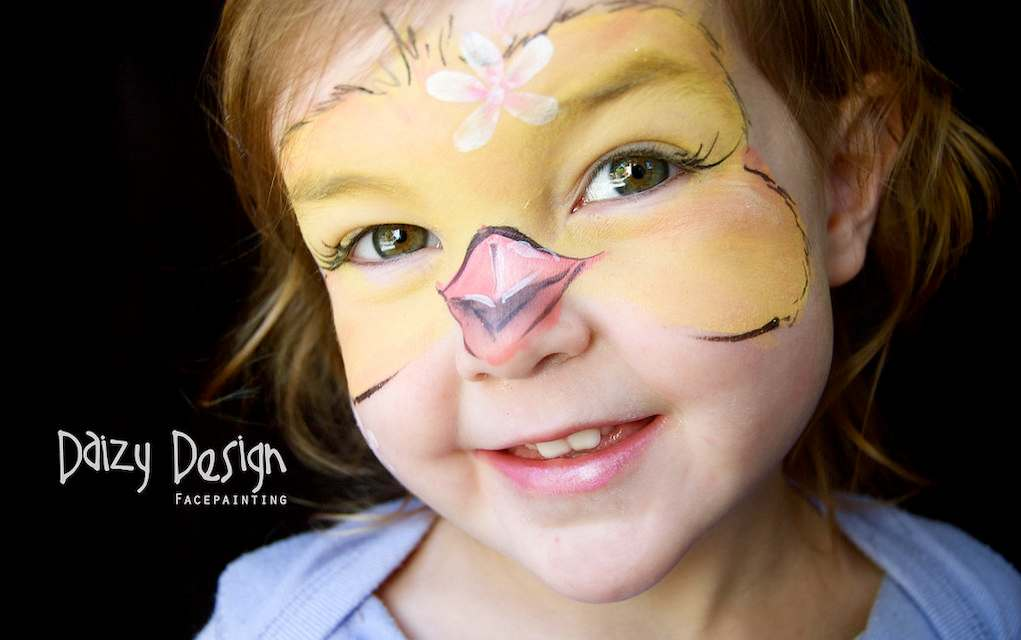 Daizy Design chick easter face paint (1)