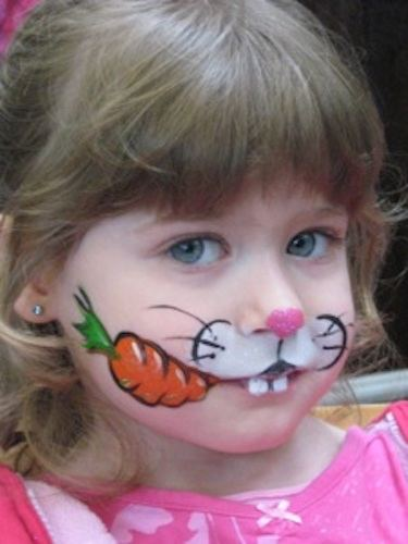 Easter face paint bunny (1)