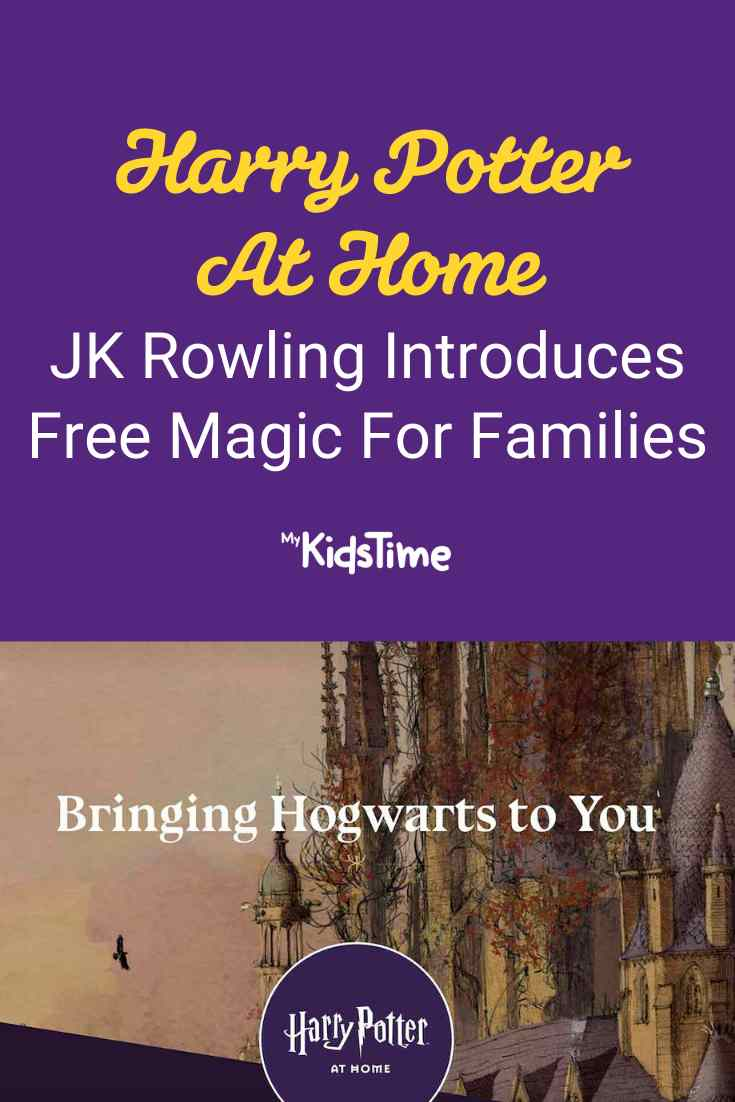 Harry Potter At Home: JK Rowling Introduces Free Magic For Families - Mykidstime