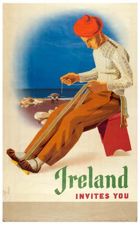NMI Ireland Invites You Travel Poster from 1953