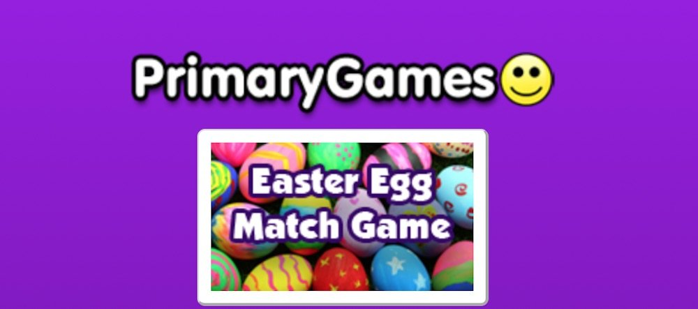 Primary Games Easter Egg Match Game