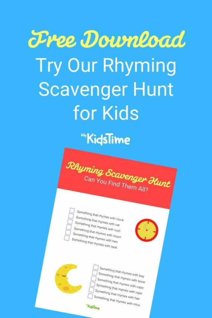 Rhyming Scavenger Hunt Pinterest