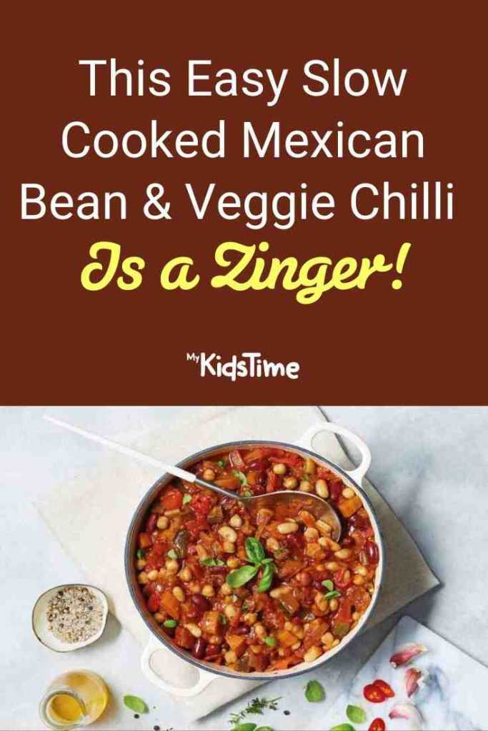 This Easy Slow Cooked Mexican Bean & Veggie Chilli Is a Zinger