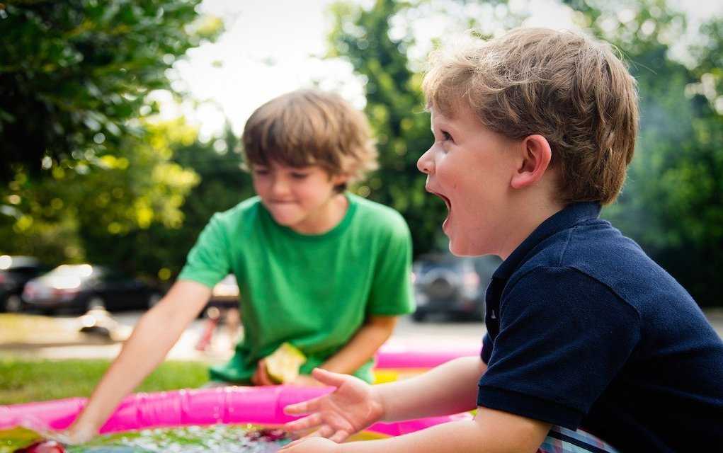 kids playing outside Garden games
