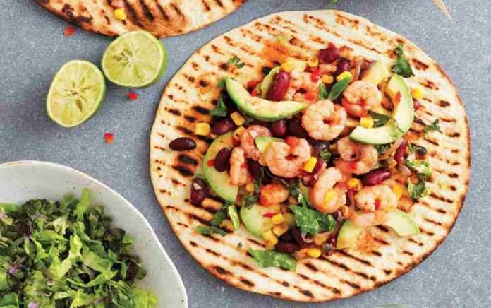prawn tortillas with chilli and lime