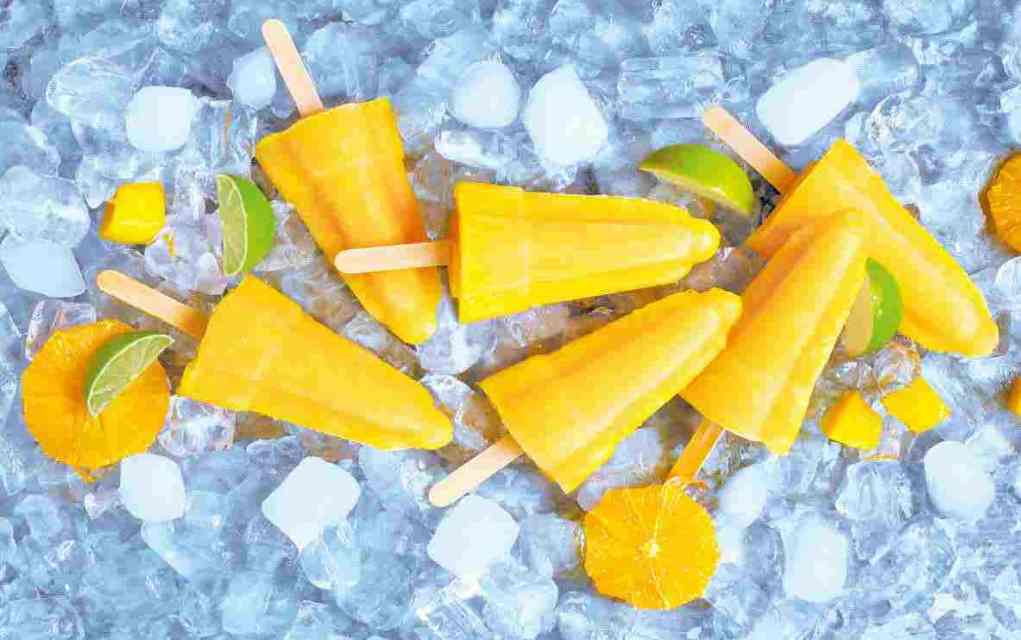 mango lime orange ice lollies