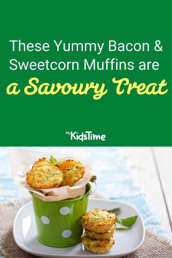 These Yummy Bacon and Sweetcorn Muffins are a Savoury Treat
