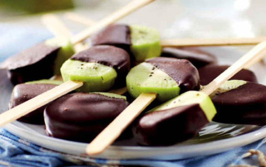 chocolate covered kiwi lollies