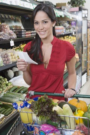 grocery shopping with a list ways to reduce household spending