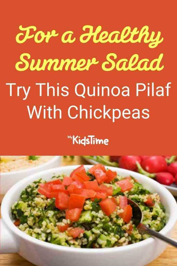 For a Healthy Summer Salad Try This Quinoa Pilaf With Chickpeas