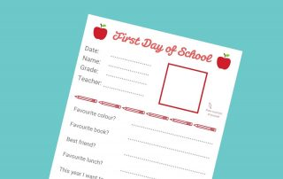 First Day of School Interview download lead - Mykidstime