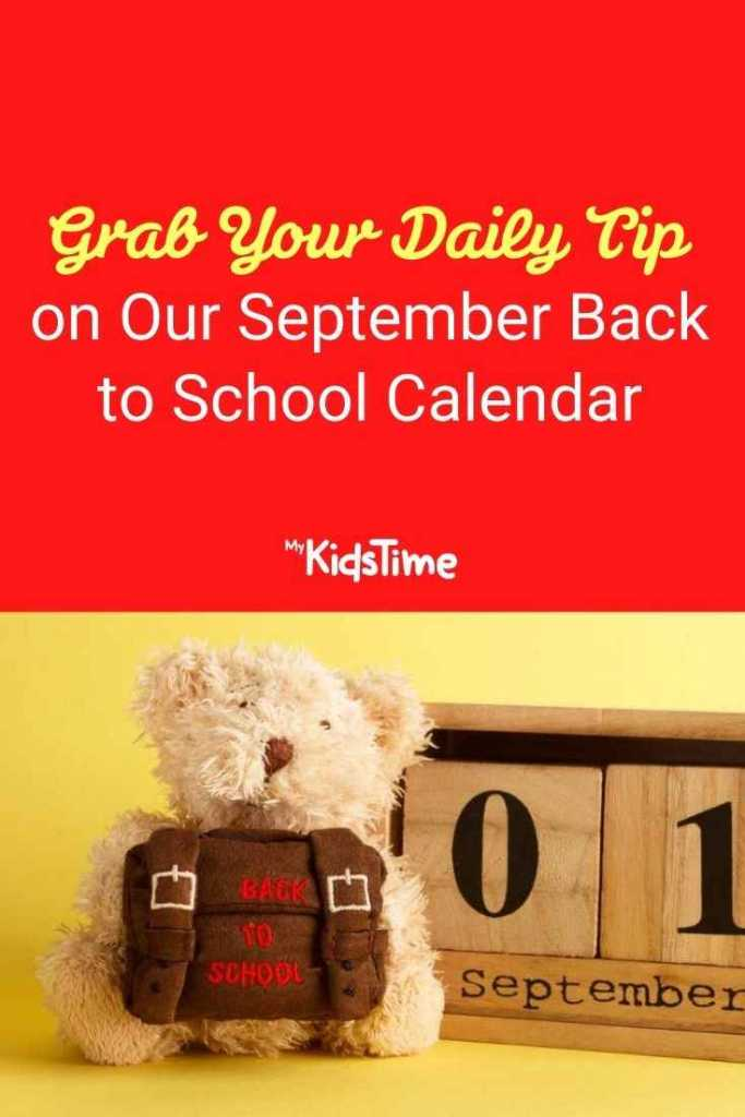 Grab Your Daily Tip on Our September Back to School Calendar