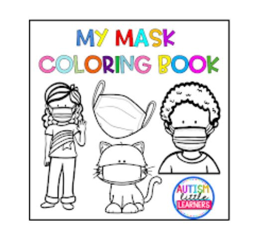 my mask colouring pages