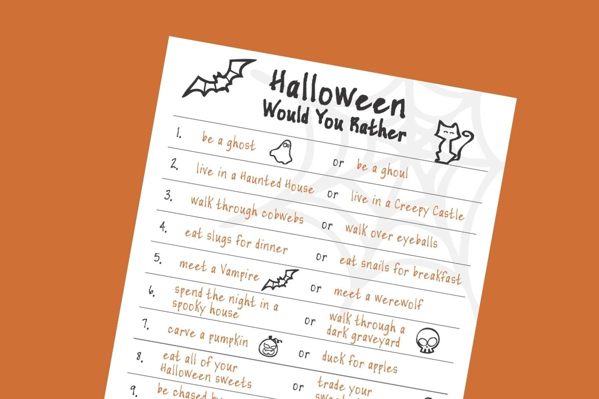 Mykidstime Halloween Would You Rather Game