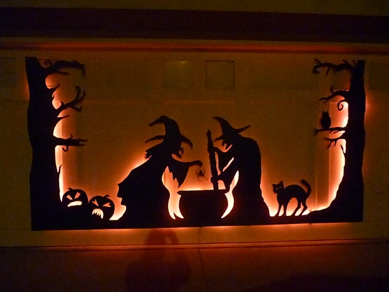 halloween door silhouettes instructables