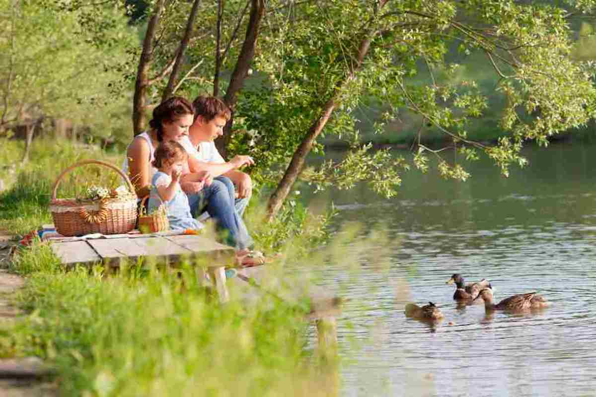 picnic-places-in-ireland-family-by-lake