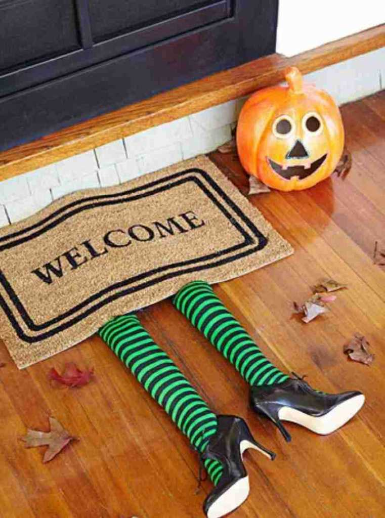 witches leg doormat