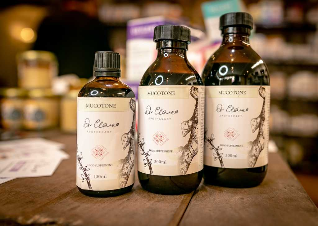 Dr Clare Apothecary Products on Display in Flagship Store