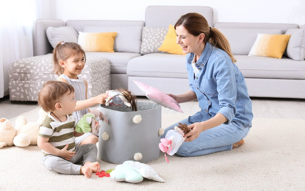 Teach Your Children New Responsibilities cleaning up