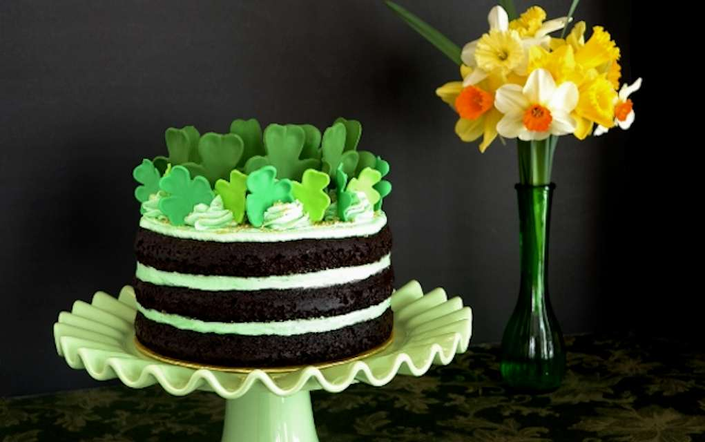St Patrick's day cakes and cupcakes
