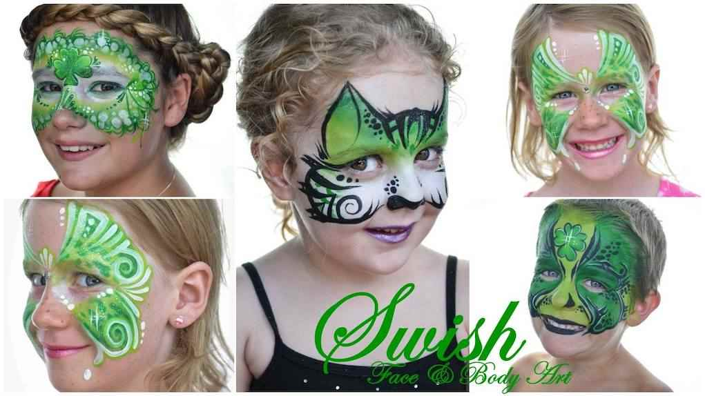 St Patrick's day face painting