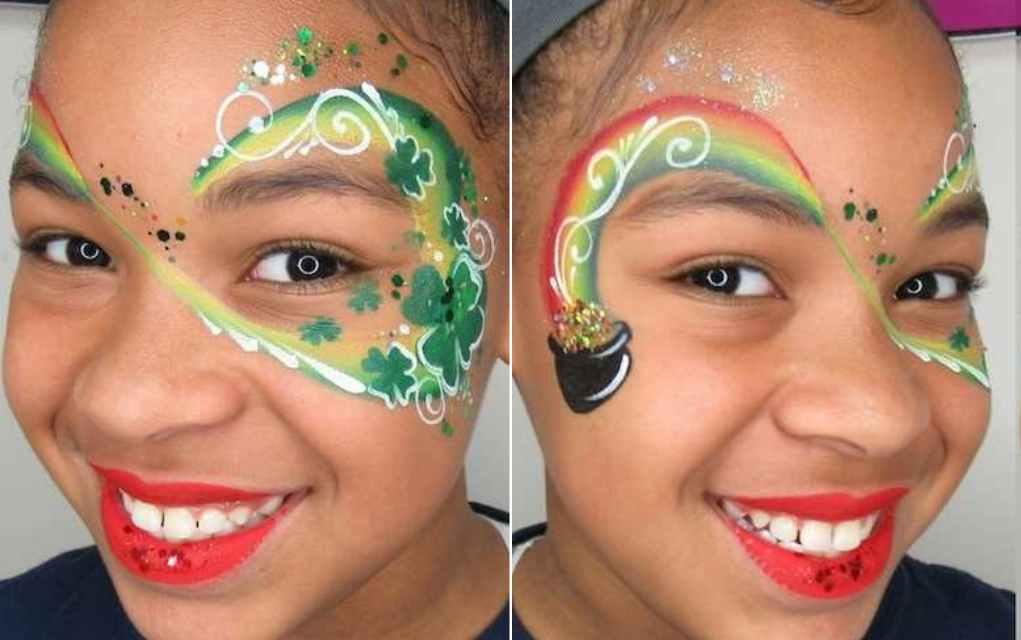 St Patrick's Day face paint lead - Mykidstime