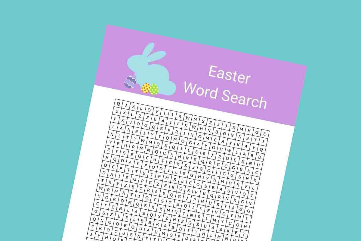 Easter word search lead - Mykidstime