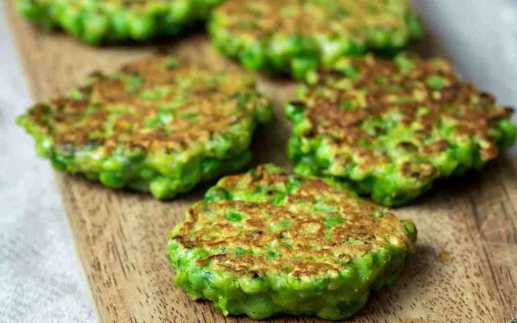 Green pea fritters for St Patrick's Day