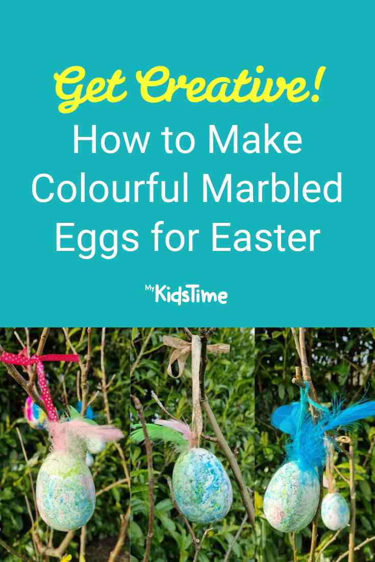How To Create Marbled Eggs For Easter - Mykidstime