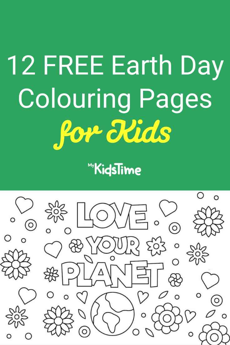 12 free Earth day colouring pages for Kids - Mykidstime