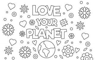 Earth Day Colouring Pages lead - Mykidstime