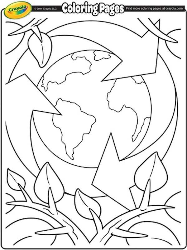 Earth day colouring pages
