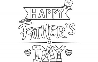 Father's Day colouring pages - Mykidstime