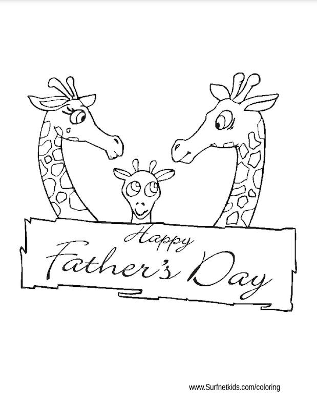 Happy Father's day colouring