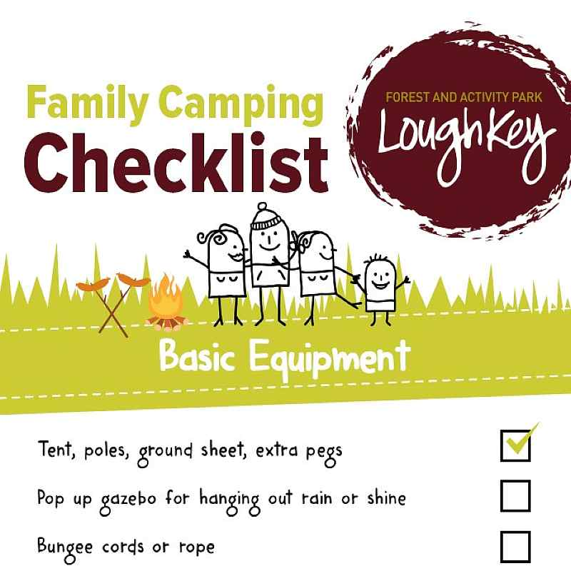 free family camping checklist