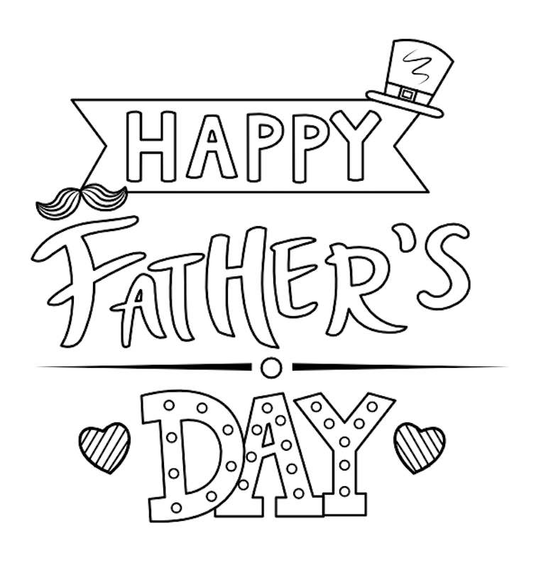 father's day colouring pages