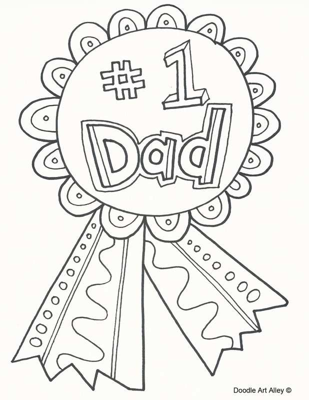 Father's day colouring