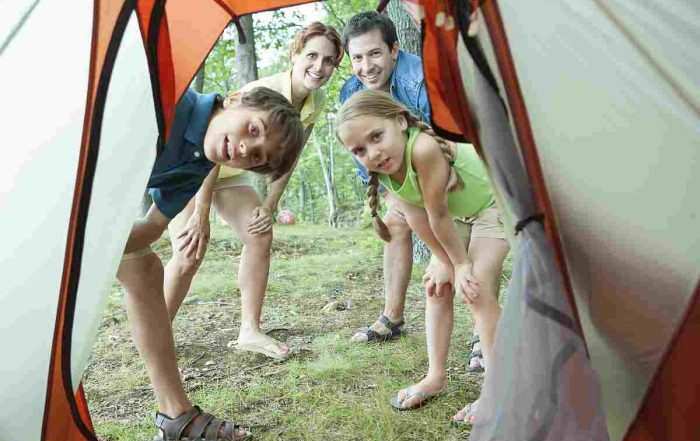 First Time Camping with Kids family tent