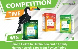 win a family pass to Dublin Zoo with Revive Active