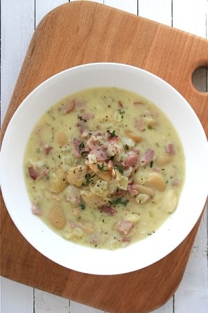 bacon and butterbean chowder
