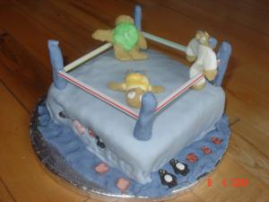 Remarkable Kids Birthday Cake Ideas Boxer In A Ring Funny Birthday Cards Online Overcheapnameinfo