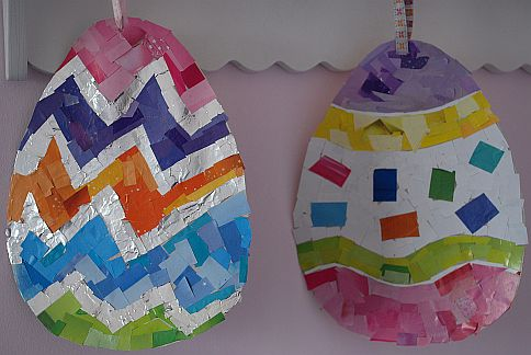Easter Crafts For Kids Egg Mosaic