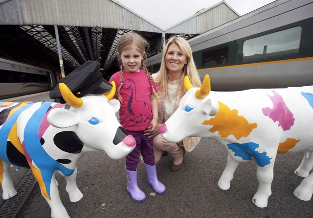Fiona Cunningham Northern Ireland Tourist Board Market Manager (ROI) and her five year old daughter Elise.